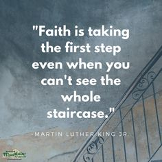 """""""#Faith is taking the first step even when you can't see the whole staircase."""" - #MartinLutherKingJr ○○○ #Addiction #Recovery #AddictionRecovery #ShadowMountainRecovery #rehabilitation #detoxification #detox #rehab #Cascade #ColoradoSprings #Denver #Colorado #Albuquerque #Taos #NewMexico #StGeorgeUtah #Utah #RecoveryIsPossible #RecoveryIsWorthIt #WeDoRecover #12Steps #12Step #Sober #Sobriety #MLK #InstaQuote #Inspiration #InspirationalQuote #RecoveryQuotes"""