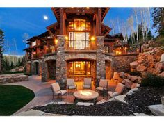 """I like how the landscape """"wraps around"""" everything. It makes the firepit area cozy and the backyard secluded."""