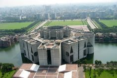 In 1974, Louis Kahn's last and arguably most famous building, the National Assembly Building of Dhaka, Bangladesh was completed.