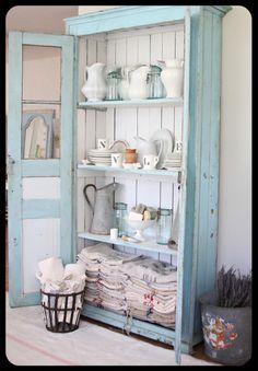 Find old door(s) you love and make a cabinet. This is just beautiful LOVE IT!