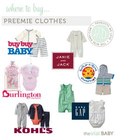 Where to Buy Preemie Clothes - whether you plan it or not, here's a handy guide on where to go from a mom whose been there done that!