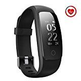 Fitness Tracker [Upgraded Version] Mpow Heart Rate Monitor Smart Bracelet Activity Tracker Fitness Health Smartwatch Wristband Bluetooth Pedometer with 14 training modes for Android and iOS Smart Phones