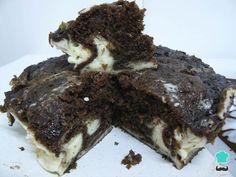 Receta de Brownie cheesecake #RecetasGratis #RecetasdeCocina #RecetasFáciles #Postres #PostresFáciles #Desserts #PostresCaseros #Brwonie #Chocolate #Cheesecake
