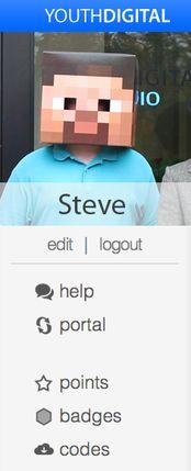 """Steve"" uses Youth Digital's portal"