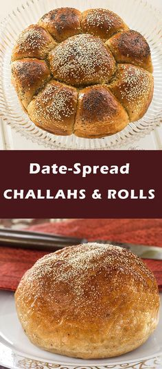 Rich and Soft Challahs and Rolls, sweetened with Date-Spread