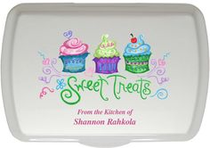 Sweet Treats design, custom designed by a local artist. A similar design has been our most popular offering in our traditional laser engraved lids. Starting at $39.99