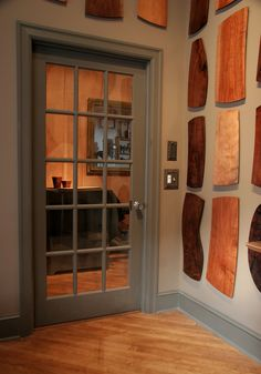 This door takes you from our showroom, directly into our wood shop where are products are made.