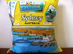 Sydney Cushion Cover Opera House Harbour Bridge by Lapideum