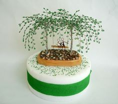 Willow Bead Tree Cake Topper - Love to share my finished order today :)....