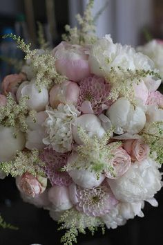 Wedding Flowers shustoke farm barns wedding flowers passion for flowers white peonies pink wizard of oz dahlias astilbe Barn Wedding Flowers, Bridal Flowers, Flower Bouquet Wedding, Floral Wedding, Casual Wedding, Pink Flowers, Beautiful Flowers, Pink Hydrangea, Red And Pink Roses