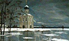 Ilya Sergeyevich Glazunov +++ И. С. Глазунов, 1994., Весна. Спас на Нерли.