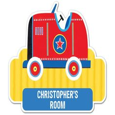 Personalised Wooden Red Car Door Plate  from Personalised Gifts Shop - ONLY £12.99