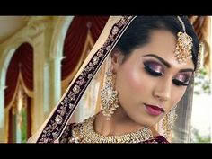 Purple And Silver Glitter Pakistani Indian Traditional Bridal Makeup Tutorial - YouTube