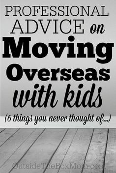 Professional Advice on Moving and Transloading Overseas With Kids