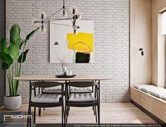 Chiếc bàn ăn với phần mặt bàn làm từ chất liệu gỗ cùng màu với sàn nhà. Trong khi đó phần chân bàn và ghế ăn làm từ chất liệu kim loại màu đen. #saokimdecor #kitchen #kitchens #diningroom #diningrooms#phòngbếp #キッチン#Cozinha #cocina #Küche #cuisine#interior #interiordesign #interiors #apartment #apartments #chungcư #インテリア#interieur #innenraum