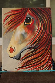 Spirit Horse painting inspired by Cinnamon Cooney the Art Sherpa