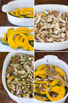 Roasted Mushrooms & Kabocha Squash by La Fuji Mama | Mushroom Channel