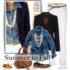 """""""Denim for Summer to Fall"""" by archimedes16 on Polyvore"""