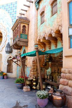 "The marketplace in the ""Arabian Coast"" designed to look like the market in Aladdin. It was so charming!"