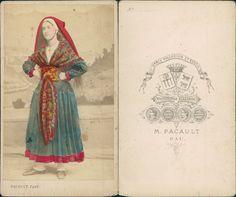 Pacault Pyrnes Pau Costume Rgional Vintage CDV Albumen Carte De Visite