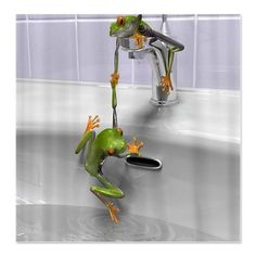 Amazing Frogs Shower Curtain