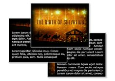 The Birth of Salvation Powerpoint Template