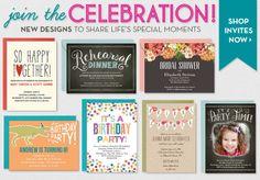 Invitations & Announcements - New Designs