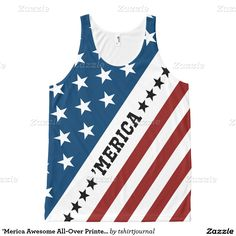 'Merica Awesome All-Over Printed Unisex Tank All-Over Print Tank Top