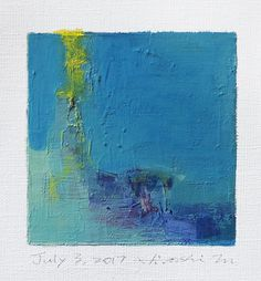 July 3 2017 Original Abstract Oil Painting 9x9 painting