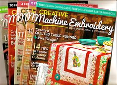Lot of 5 Back Issues of Creative Embroidery Magazine  2014