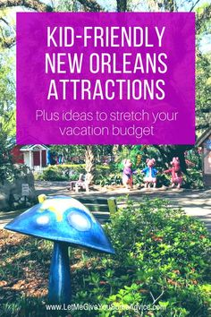 What to do with kids in New Orleans. Thinking about a family getaway to this famous US city? There's plenty of kid-friendly attractions in New Orleans for the whole family. Plus ideas on how to stretch your vacation budget in New Orleans. Cheap Family Vacations, Kid Friendly Vacations, Vacations In The Us, Fort Lauderdale, New Orleans With Kids, Orlando, Kids Attractions, New Orleans Vacation, Family Getaways