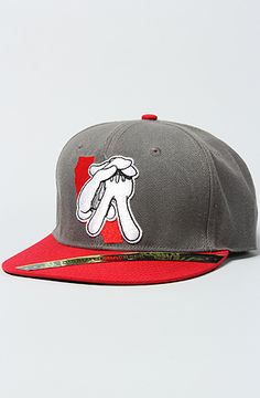 The Cali Glove Snapback Cap in Gray   Red by Dissizit! b24e2814dc2