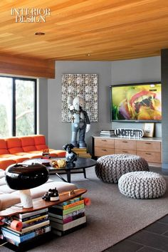 """SNOOPY lamp from #FLOS in the foreground of this LA home. (""""Living on the Edge"""", Interior Design, June   http://homedesigncollections.blogspot.com"""