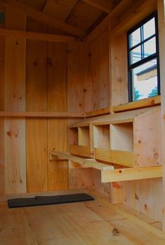 Convert shed into chicken coop.   ...........click here to find out more     http://googydog.com