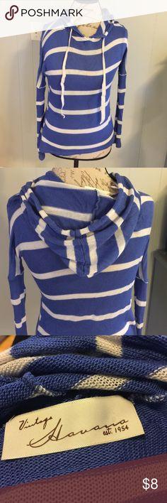 Ladies thin knit hoodie sweater Pre- loved size small/ medium... long sleeve hoodie... thin knit ... Vintage Havana Sweaters