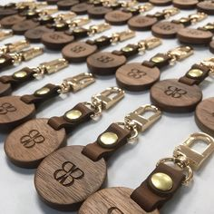 Anyone for a keyring?! Luxury walnut wood combined with U.K. cowhide leather creates the ultimate luxury in keyring manufacturing. All made in our little workshop in The New Forest #corporategifts #creategiftlove