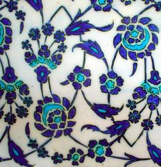 Iznik Tile in Topkapi Palace by melih_ozcanli, via Flickr. Topkapi Palace is in Istanbul, Turkey.