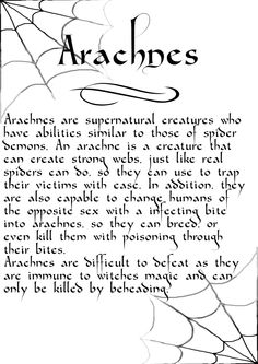 Charmed Series Book of Shadows: Arachnes » Metaphysic Study