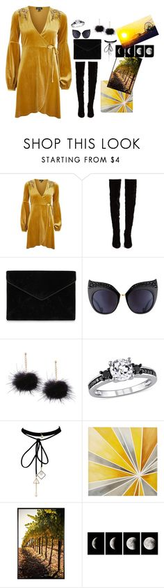 """""""Untitled #667"""" by eliasc ❤ liked on Polyvore featuring Topshop, Christian Louboutin, Rebecca Minkoff, Anna-Karin Karlsson, WithChic, Intelligent Design, Pottery Barn and WALL"""