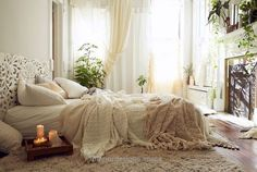 Cozy White Warm Bohemian Bedrooms ….. (From Moon to Moon) Layered sheers. Still let's light in. Cozy White Warm Bohemian Bedrooms ….. http://www.interiordesigns.space/2017/06/10/cozy-white-warm-bohemian-bedrooms-from-moon-to-moon/