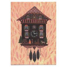 Little Otsu — Cuckoo Clock Card by Becca Stadtlander