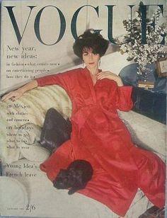 Vintage Vogue magazine covers - mylusciouslife.com - Vintage Vogue UK January 1963.jpg