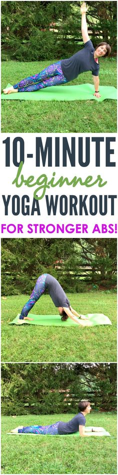 A 10 Minute Beginner Yoga Workout for Stronger Abs is a great way to relax, improve flexibility, prevent injury, and strengthen the core! @Pineapplemiami