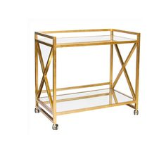 Bar carts are perfect in gold.