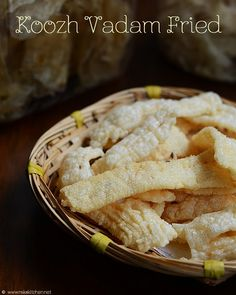 Vathal recipe: Sun dried rice dough crisps
