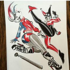 I have nothing against the new Harley Quinn , but these drawings by Nathan Greno are just great