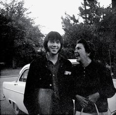 Neil Young with his mother, Rassy, in Winnipeg, 1968.
