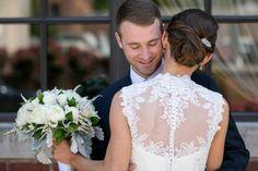 Bridal updo on dark hair, by Alina Karaman