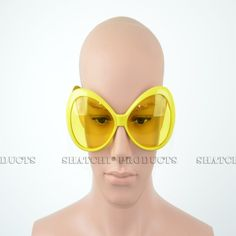 Novelty big framed yellow glasses. #Novelty #Glasses #PartyIdeas #Yellow #PartyAccessories #DressUp #FancyDress #Costume #Party #PartySupplies #Partyngifts Novelty Sunglasses, Cool Glasses, Big Yellow, Fancy Costumes, Party Accessories, Fancy Dress, Whimsical Dress, Costume, Party Supply Stores