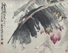 JP: ZHAO SHAO'ANG (1905-1998) FLOWERING BANANA TREE,